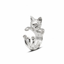 Cat Fever Sterling Silver Bengal Hug Ring - CFANE00008