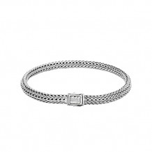 John Hardy Classic Chain Collection Extra-Small Hammered Bracelet - BB96184XM