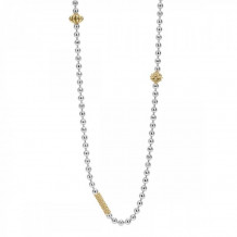 Lagos 18k Gold & Sterling Silver Caviar Icon Necklace - 04-80865-ML