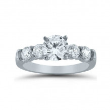 Lieberfarb 14k White Gold Straight Engagement Ring