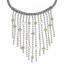 Lagos 18k Gold & Sterling Silver Caviar Icon Necklace - 04-80947-16