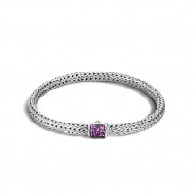 John Hardy Classic Chain Collection Extra-Small Amethyst Bracelet - BBS96002AMXM