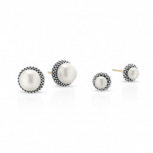 Lagos Sterling Silver Luna Exclusive Pearl Earring Set - 08-81010-M