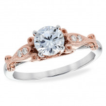 Allison Kaufman Two Tone 14k Gold Diamond Semi-Mount Engagement Ring - M216-37701_TR-