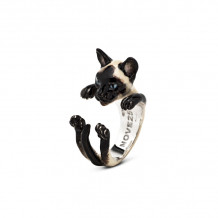 Cat Fever Sterling Silver and Enamel Siamese Hug Ring - CFANESMACLA00003