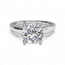 Ritani Solitaire Diamond Cathedral Engagement Ring with Surprise Diamonds - 1R7234