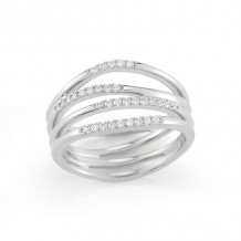 Dana Rebecca 14k White Gold Aria Selene Multi Band Ring - R497