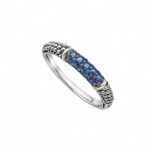 Lagos Sterling Silver Signature Color Sapphire Stacking Ring