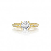 Tacori 18k Yellow Gold Classic Crescent Straight Engagement Ring