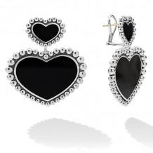 Lagos Silver Stud Earrings - 01-81853-OX