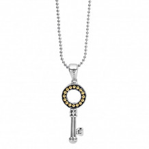 Lagos 18k Gold & Sterling Silver Beloved Key Pendant Necklace - 04-80882-ML