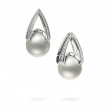 Mikimoto 18k White Gold M Collection Pearl Earrings - MEA10256NDXW