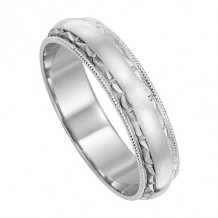 Lieberfarb Platinum Designs Classic Wedding Band