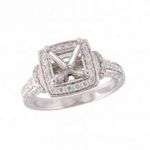 Allison Kaufman 14k White Gold Diamond Semi-Mount Engagement Ring - M212-77674_W-
