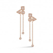 Dana Rebecca 14k Rose Gold Emily Sarah Drop Earrings - E2836