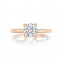 Simply Tacori 18K Rose Gold Solitaire Engagement Ring  -
