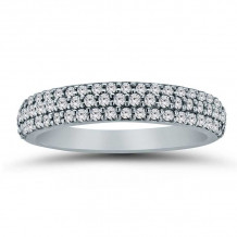 Lieberfarb 14k White Gold Eternity Wedding Band - LD71053