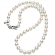 MIKIMOTO 18k White Gold Pearl Necklace - G90118V1W