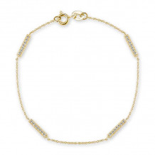 Dana Rebecca 14k Yellow Gold Sylvie Rose Station Bracelet - B271