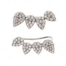 Meira T White Gold Tear Drop Earcuffs Earrings - E10018