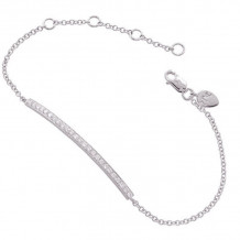 Meira T 14k White Gold Diamond Bar Chain Bracelet - 1B3695W