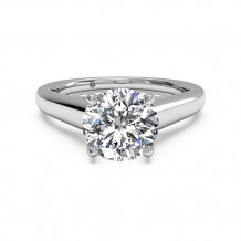 Ritani Solitaire Diamond Tulip Cathedral Engagement Ring - 1R1178