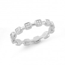 Dana Rebecca 14k White Gold Jeanie Ann Eternity Band - R734