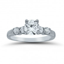 Lieberfarb 14k White Gold Straight Engagement Ring - ED71041