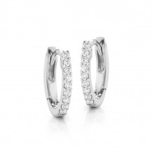 Dana Rebecca 14k White Gold DRD Diamond Huggies Earrings - E1140