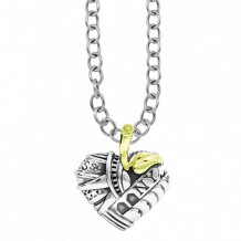 Lagos 18k Gold & Sterling Silver Hearts of LAGOS Heart of New York Pendant - 07-80137-NY32