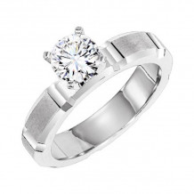 Lieberfarb Platinum Solitaire Engagement Ring - ED71781