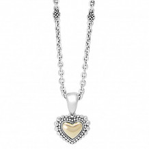 Lagos 18k Gold & Sterling Silver Signature Gifts Heart Pendant Necklace - 07-80782-SML