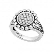 Lagos Silver Diamond Ring - 02-80672-DD7