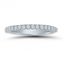 Lieberfarb 14k White Gold Eternity Wedding Band - LD77829