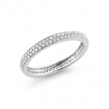 Dana Rebecca 14k White Gold Melissa Louise Thin Eternity Band - R330