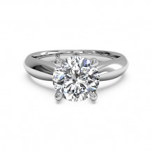 Ritani Solitaire Diamond Tapered Engagement Ring with Surprise Diamonds - 1R7244