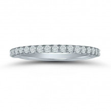 Lieberfarb 14k White Gold Eternity Wedding Band - LD77749