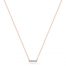 Dana Rebecca 14k Rose Gold Sylvie Rose Diamond Bar Necklace - N206