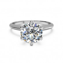 Ritani Solitaire Diamond Six-Prong Knife-Edge Engagement Ring - 1R7295