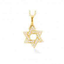 Shema 14k Yellow Gold Star Of David Diamond Necklace - IR2177Y