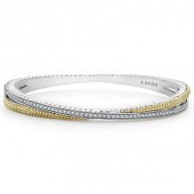 Lagos Caviar 18k Yellow Gold & Silver Diamond Bracelet - 05-81408-DD7