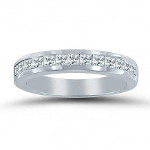 Lieberfarb 14k White Gold Wedding Band - LD70857
