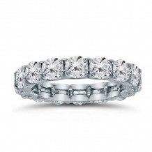 Lieberfarb 14k White Gold Eternity Wedding Band - LD75978