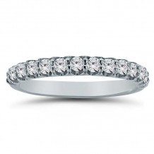Lieberfarb 14k White Gold Anniversary Wedding Band - LD75010