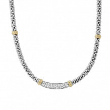 Lagos 18k Gold & Sterling Silver Diamond Lux Diamond Necklace