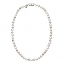 Mikimoto 18k White Gold Akoya Strand Pearl Necklace - U701181W