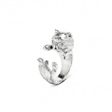 Cat Fever Sterling Silver Persian Hug Ring - CFANE00002