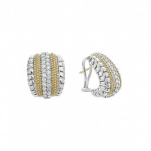 Lagos 18k Yellow Gold & Sterling Silver Diamond Lux Diamond Earrings