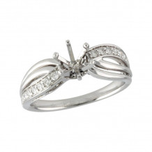 Allison Kaufman 14k White Gold Diamond Semi-Mount Engagement Ring - L214-56747_W-