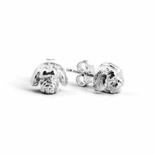 Dog Fever Sterling Silver Shitzu Snout Earrings - DFORE00022